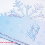 Snow Flake Wedding Invitation with Laser Cutting