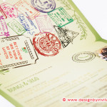Wedding Passport Invitation with Stamps