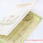 Passport Invitation with Crochet Edge and Natural Elements
