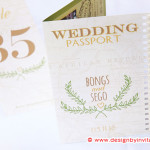 Passport Theme Wedding Stationery with Natural Elements