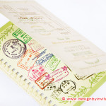 Passport Invitation with Stamps & Crochet Edging